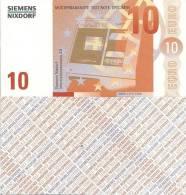Test Note - SNIX-162, 10 Euro, Siemens Nixdorf, Euro Stars / ATM - [17] Fakes & Specimens