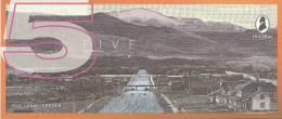 Test Note - TDLR-132, $5, DeLaRue, Town View With Bridge - Falsi & Campioni