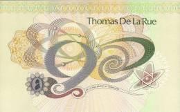 Test Note - TDLR-231b, HUGE  De La Rue Currency Sample - Vals En Specimen