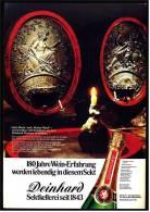 Reklame Werbeanzeige  -  Deinhard Sekt  ,  180 Jahre Wein-Erfahrung  ,  Von 1975 - Andere Sammlungen