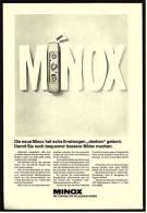 Reklame Werbeanzeige 1969 ,  Die Neue MINOX Hat Extra Ihrentwegen Denken Gelernt - Photographica