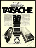 Reklame Werbeanzeige 1976 ,  Durst  -  Das Neue Hobby  -  Es War Noch Nie So Einfach... - Photographica
