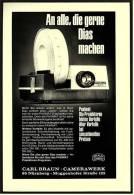 Reklame Werbeanzeige 1970 ,  Carl Braun  Camerawerk Nürnberg  -  An Alle, Die Gerne Dias Machen - Photographica