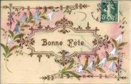 Carte En Rodoïde - Bonne Fête - Peint Main - Cartoline
