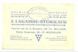 Carte De Visite - Meubelen - Meubles - J. Lagaisse-Stokkaer - MECHELEN - MALINES - Verviers (k) - Cartes De Visite