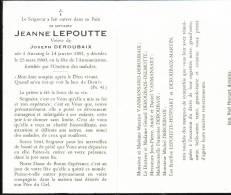 Anvaing. Jeanne Lepoutte. 1891 - 1960. **** - Frasnes-lez-Anvaing