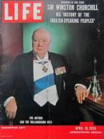 Magazine LIFE - APRIL 16 , 1956 - INTER. ED. - Winston CHURCHILL - Nombreuses Publicités       (3041) - Nouvelles/ Affaires Courantes
