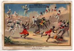 CHROMO IMAGE ANCIENNE CHOCOLATERIE MONASTERE D AIGUEBELLE - PRISE DE KANA DAHOMEY 1893 - A VOIR - Aiguebelle