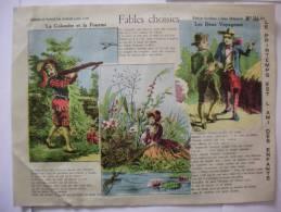LE PRINTEMPS EST L´AMI DES ENFANTS 1935 FABLES CHOISIES LA COLOMBE ET LA FOURMI ,LES DEUX VOYAGEURS - Alte Papiere