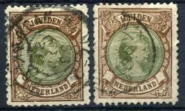 12150) NIEDERLANDE 2mal # 47 B Gestempelt Aus 1896, 30.- € - Oblitérés