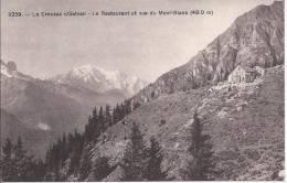 6263 - La Creusaz Sur Salvan Le Restaurant Et Vue Du Mont-blanc - VS Valais