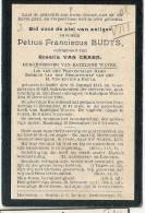 (B85) °DUFFEL 1841 + KATELIJNE WAVER 1910  PETRUS BUDTS BURGEMEESTER VAN KATELIJNE WAVER - Images Religieuses