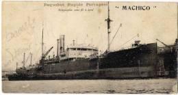 BATEAU PAQUEBOT RAPIDE PORTUGAIS MACHICO - Dampfer