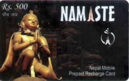 GSM MOBILE PHONE PREPAID USED RECHARGE CARD RS.500 NEPAL TELECOM 2010 NEPAL - Nepal