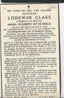 (B89) ° ST.KATELIJNE WAVER 1866 + 1940 LODEWIJK CLAES OUD BURGEMEESTER VAN KATELIJNE WAVER - Images Religieuses