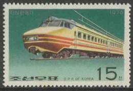 Korea North 1976 Mi 1558 ** Electric Locomotive / Triebwagen - Treinen