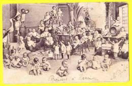 * Bébés Multiples - Babies - Baby (Fantaisie - Fantasy) * (Serie 264, Nr 3) Cigogne, Stork, Café, Bière, Vin, TOP CPA - Bébés