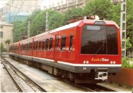 Nº663 POSTAL DE ESPAÑA DE UN TREN EN SAN SEBASTIAN  (TREN-TRAIN-ZUG) AMICS DEL FERROCARRIL - Trenes