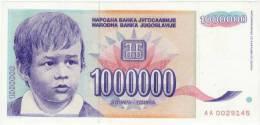 1000000 Dinars 1993 Low Numeration UNC  RR! - Jugoslawien