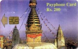 NEPAL PAYPHONE SMART CHIP CARD RS.200 NEPAL TELECOM 2004 USED - Nepal