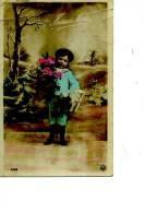 BONNE ANNEE ENFANT GARCON FLEURS  STYLE BELLE EPOQUE  1906  N °4366 DEFAUT - New Year