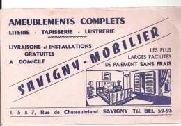 Buvard Ameublements Complets Savigny Mobilier 1,5 Et 7 Rue Chateaubriand à Savigny - Carte Assorbenti