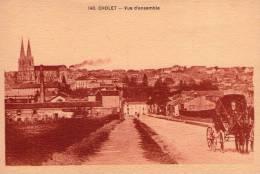 Cholet..animée..belle Vue De La Ville..attelage..diligence - Cholet