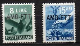 1949 Trieste A  Democratica N. 61 E 63 INTEGRI MNH** - 7. Triest