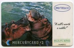 PHONECARD : MERCURYCARD / PAYTELCO £2 - WILDLIFE SERIES NUMBER 2 - Mercury Communications & Paytelco