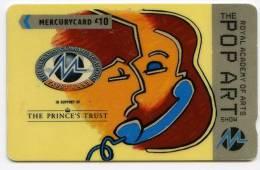 PHONECARD : MERCURYCARD / PAYTELCO £10 - ROYAL ACADEMY OF ARTS, THE POP ART SHOW - Royaume-Uni