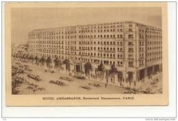 CP Paris - Hotel Ambassador - Voyagé Vers Belgique 1932  > - Cafés, Hoteles, Restaurantes