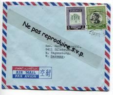 - Air Mail Cover From Jordan, Jordanie,  2 Stamps, To Regensburg, Germany, Allemagne, Very Nice, Scans . - Jordan