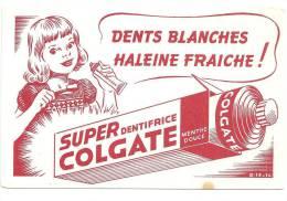 Buvard Dentifrice Dents Blanches, Haleine Fraîche Super Dentifrice Colgate - Parfums & Beauté