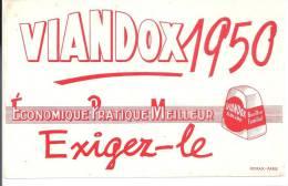 Buvard VIANDOX 1950 Economique Pratique Meilleur Exigez-le - Soups & Sauces