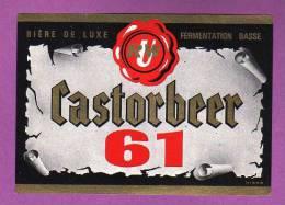 ETIQUETTE - BIERE DE LUXE -  URW / CASTORBEER 61 - Bière