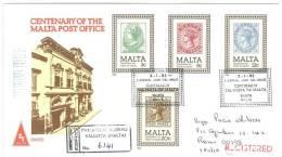 MALTA - FDC - ANNO 1985 - CENTENARY OF THE MALTA POST OFFICE   R EXP - Malta