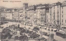 Genova - Piazza Caricamento, 1920, Animé, Tram - Genova