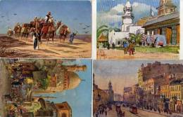 4 CPA - Scènes Diverses :F. Perlberg - Belay - C Wuttke - T. Ciéeslewski (chameaux, éléphants.. (51931) - Pittura & Quadri