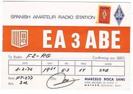 CARTE RADIO QSL - ESPAGNE - ESPANA - MATARO - BARCELONA - 1976. - Amateurfunk