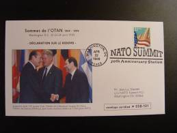 NATO SUMMIT DECLARATION SUR LE KOSOVO CHIRAC CLINTON SOLANA SOMMET OTAN - OTAN