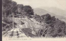Monaco CPA 3. Route De Monte-Carlo Au Cap Martin - LL. Railway Chemin De Fer (2 Scans) - Non Classés