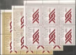 Lettonia 1992 Nuovo** - Mi. 323/25  6x - Lettonia