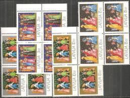 Lettonia 1992 Nuovo** - Mi. 344/47 Quartina - Lettonia