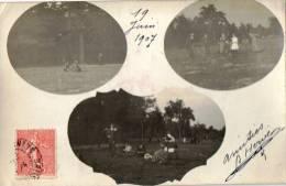 Carte Photo.Photo Montage.Sortie En  Famille.Souvenir 1907. - Fotografia