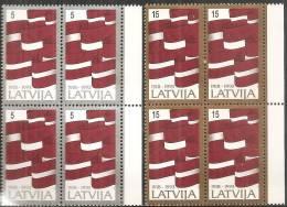 Lettonia 1993 Nuovo** - Mi. 361/62 Quartina - Lettonia