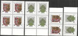 Lettonia 1995 Nuovo** - Mi. 400+402 6x (Quartina+2) - Lettonia