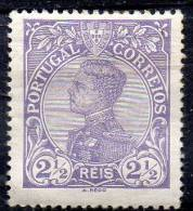 PORTUGAL 1910 King Manoel II  21/2r. - Lilac  MH - 1910-... Republic