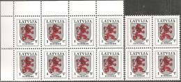 Lettonia 1997 Nuovo** - Mi. 371 AIII  12x - Lettonia