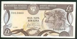CYPRUS , 1 LIRA 1.4.1987. P-53a , XF - Cyprus