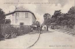 Achères 78 -  Café Route Gare De Chemins De Fer - Oblitération Eymeux Section De L'Ecancière Drôme - Acheres